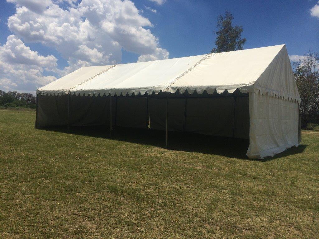 Frame tents safari hire for Steel frame tents