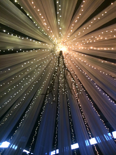 draping with fairy lights